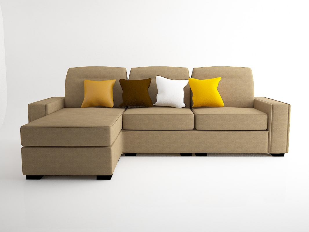 leather couch 3d model