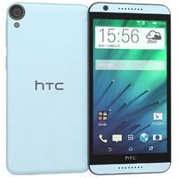 htc desire 820 blue 3d model