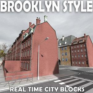 3d city building houses