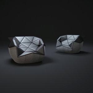 3d marie-bean-bag-chair model