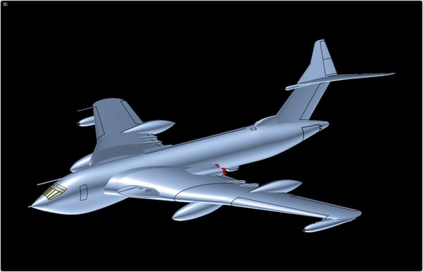 3d model handley page victor mk2