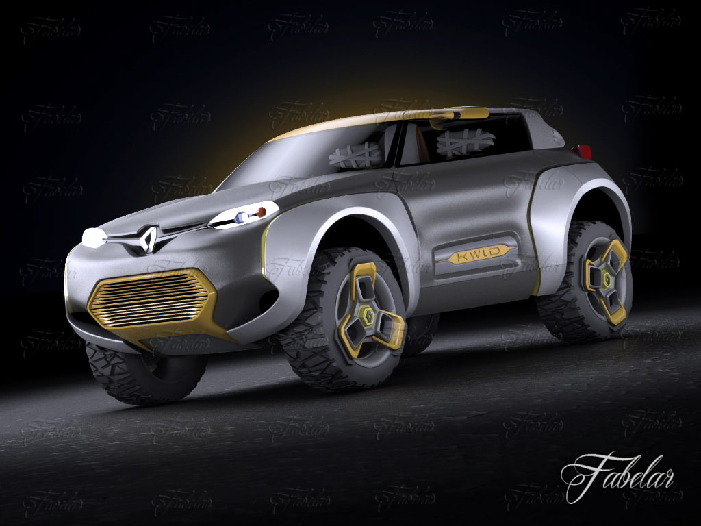 3d renault kwid concept vehicle