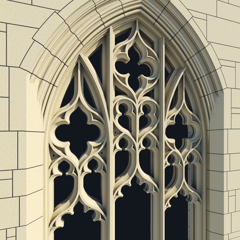 3ds arched gothic window