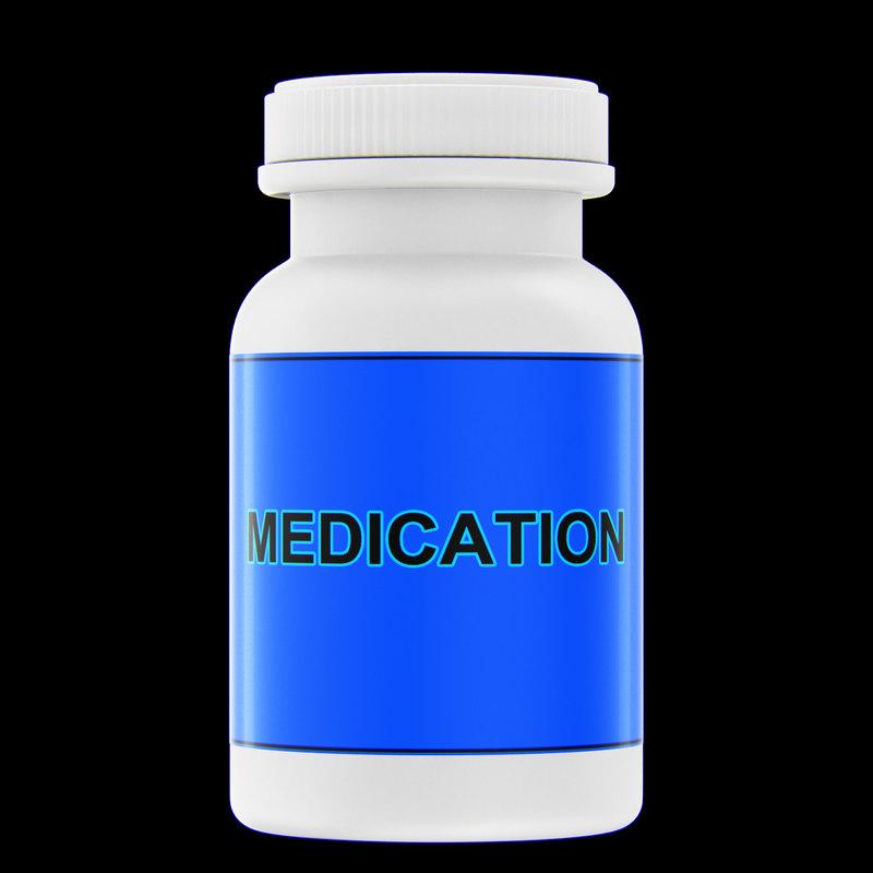 3d model medicine bottle