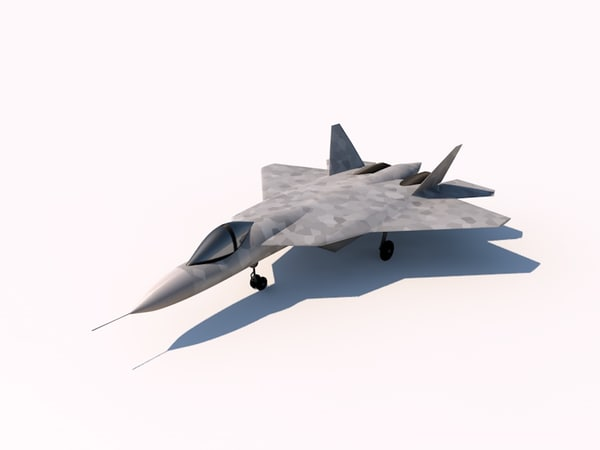 3ds max sukhoi pak fa fighter