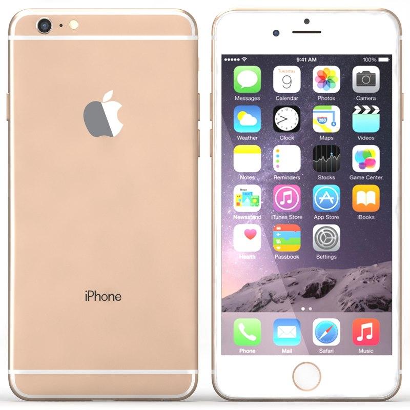 iphone 6 gold 3d max