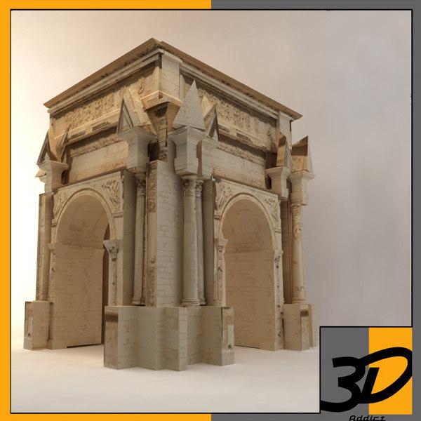 3d arch septimius severus model