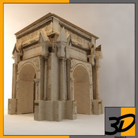 3d model arch septimius severus