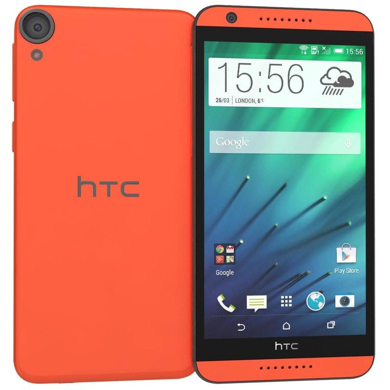 3d htc desire 820 red