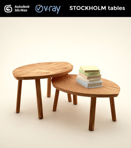 stockholm set tables 3d model