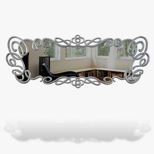 mirror modelled 3d ma