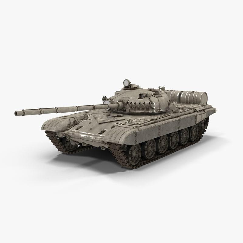 t-72 modeled 3d model