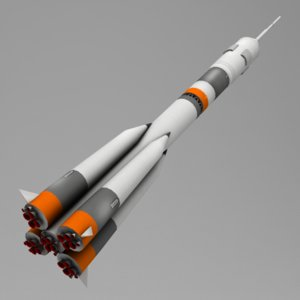 3d carrier rocket