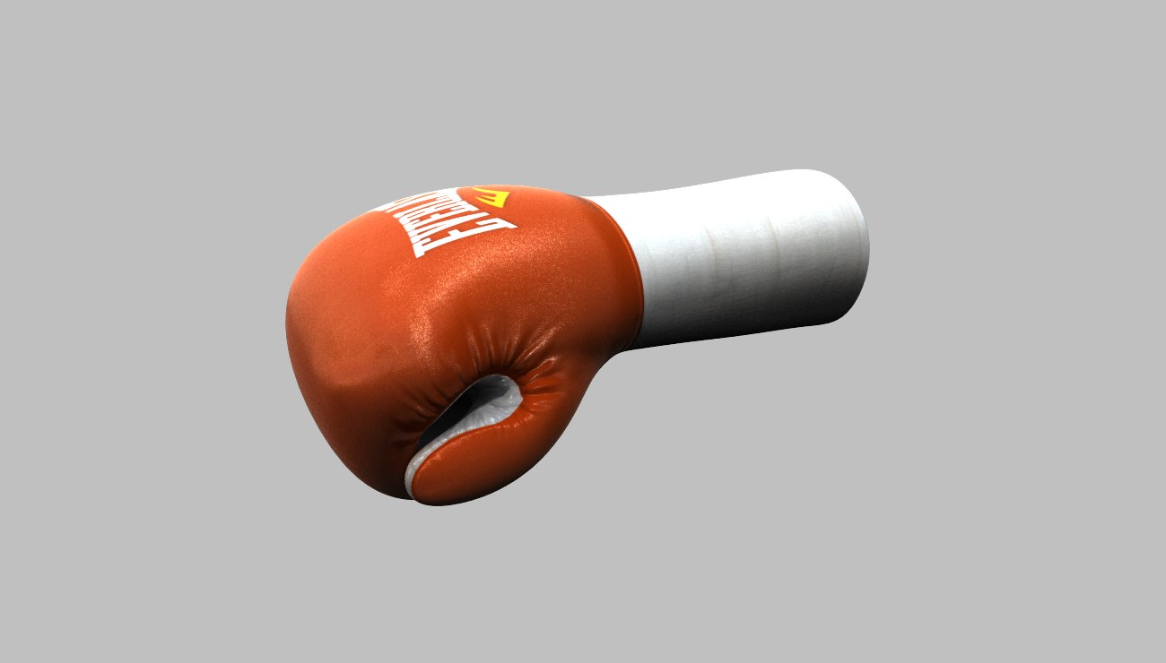 boxing gloves 3d max