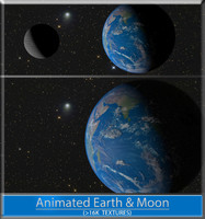 3d earth moon model