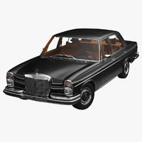 3d model 1972 280se w108 mercedes