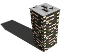 3d model skycraper building