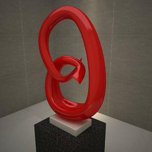 3d model contemporary modern sculpture