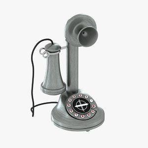 3d model old phone candlestick