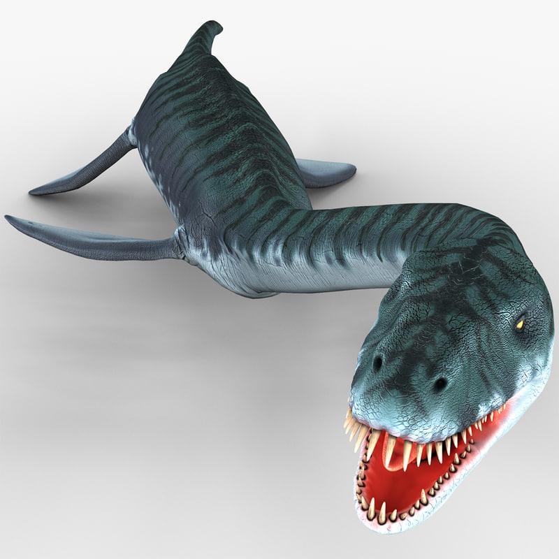 3d plesiosaur pose 1