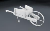 3d model wheelbarrow wheel