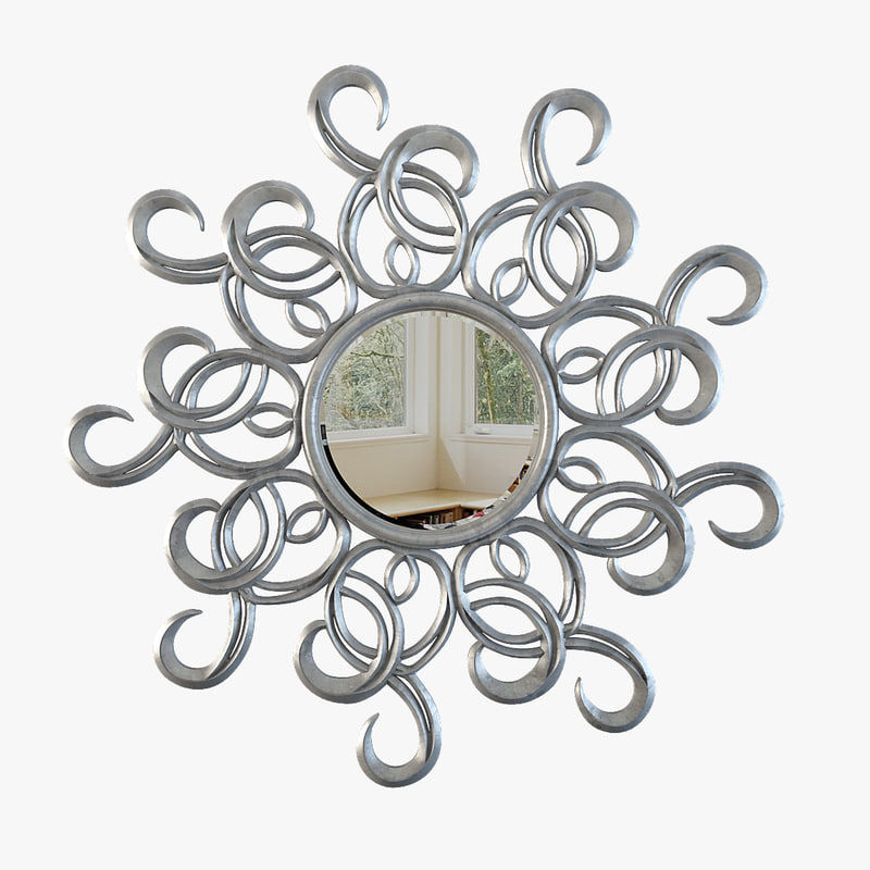 3d model mirror modelled