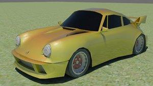 porsche rs 3d model