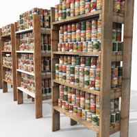 Rough Wooden Shelving stock inventory ware logistics store shop depot stock goods yard Prepers preping