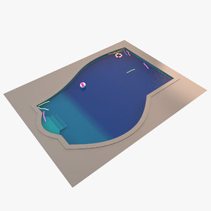 3dsmax garden pool