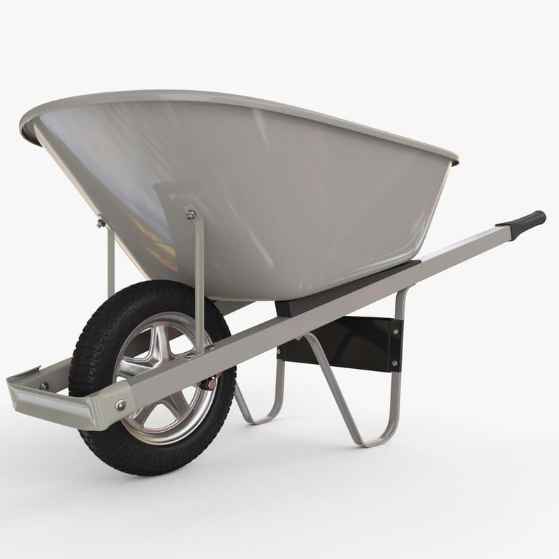v-ray wheelbarrow 3d max