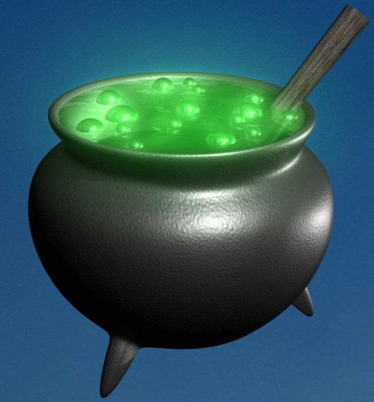 3d model cauldron pot