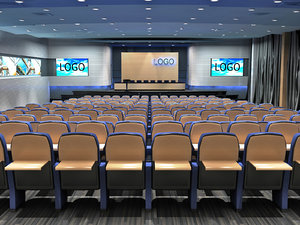 3d conference hall model