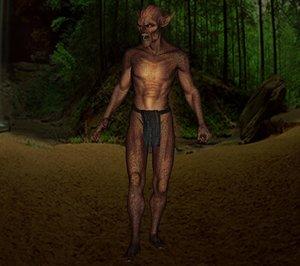 3d demon beast male model