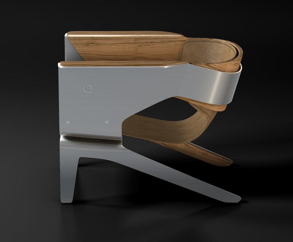 q lounge chair 3d c4d