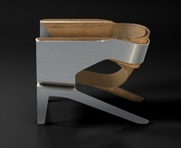 q lounge chair 3d c4d