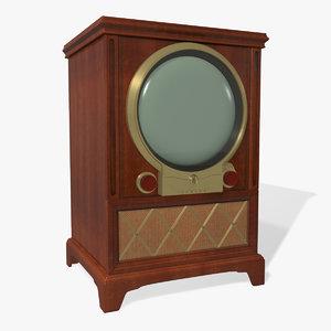 1950s vintage tv obj