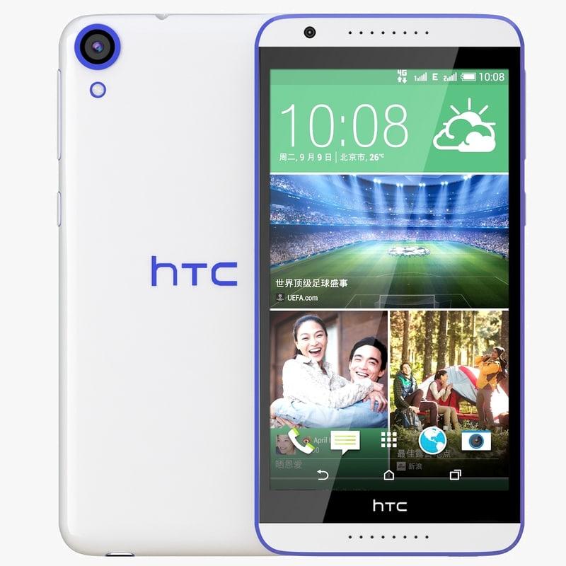 htc desire 820 blue 3d 3ds