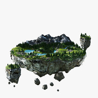 3d model floating island