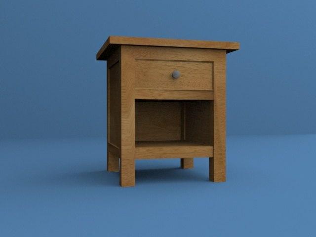 3d model nightstand
