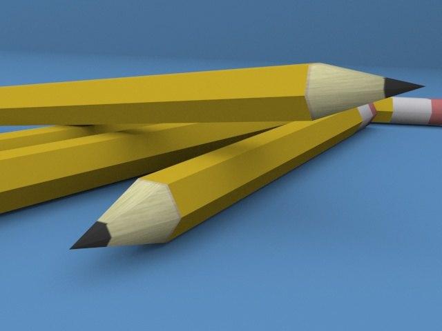 pen pencil 3d max