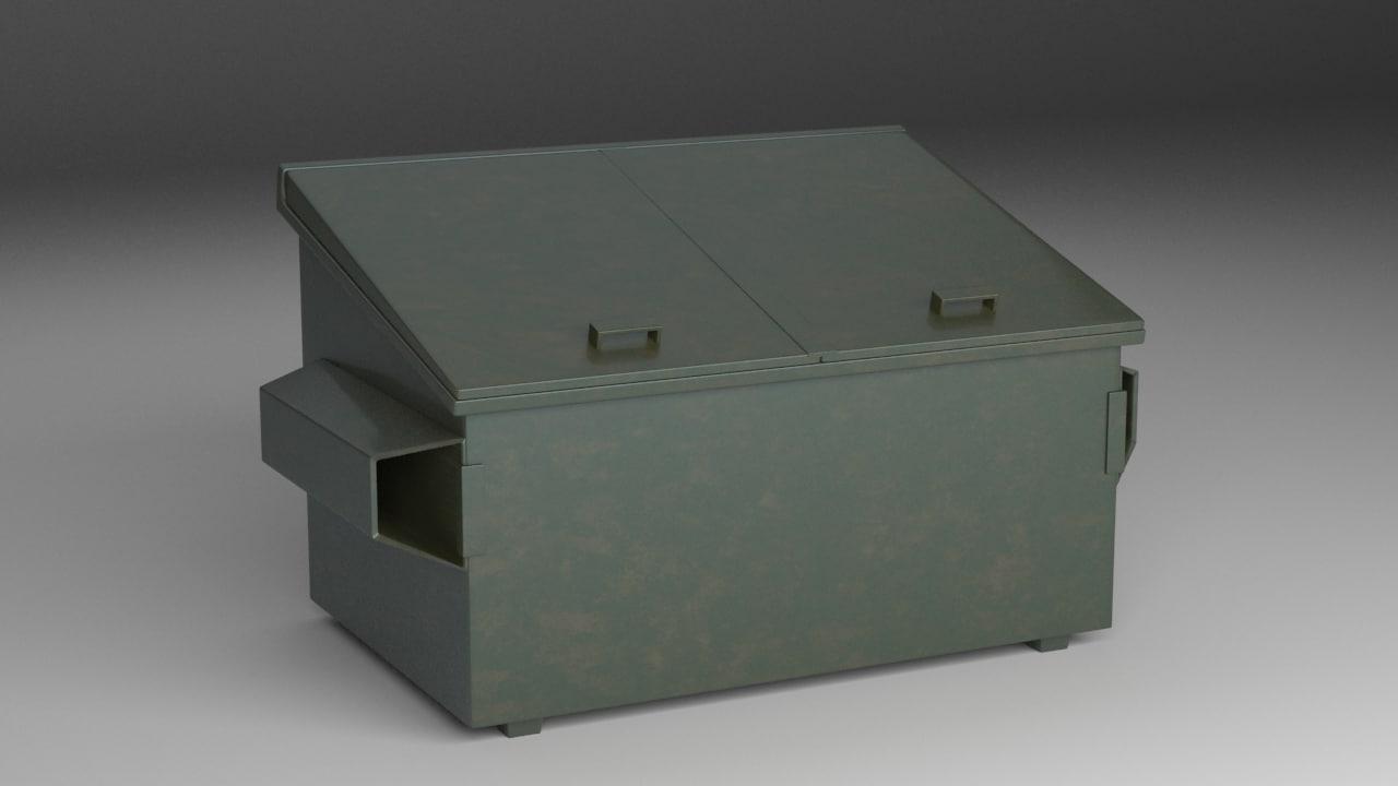 dumpster 3d max