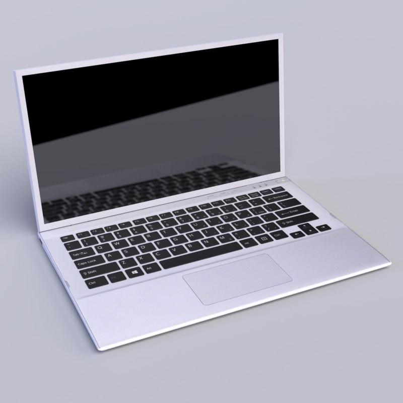 laptop 3d obj