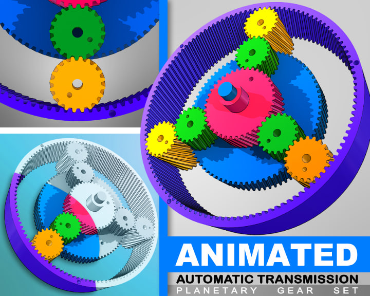 3d model animation automatic transmissions