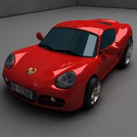 3d cayman porche model