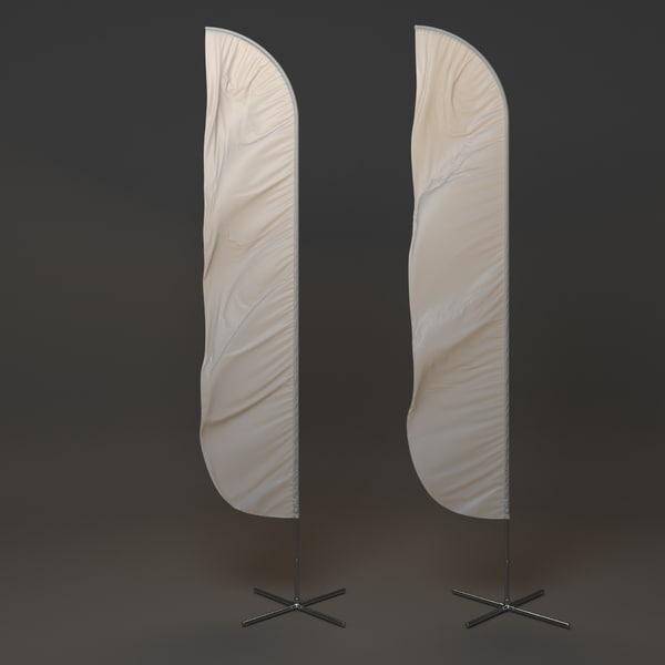 flag flagstaff 3d model