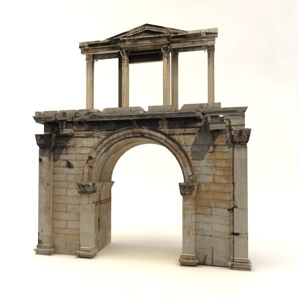 arch hadrian 3d c4d