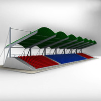 3d stadium seating tribune model