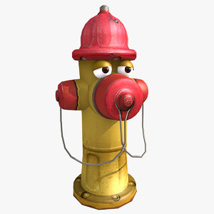 cartoon hydrant 3d max