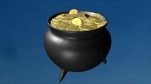pot gold saint patricks 3d model