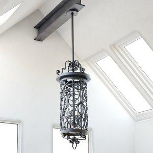 scorpius lantern chandelier lighting fixture 3d max